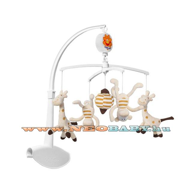 BABYONO Forgó-zenélő babaágyra és utazóágyra Cod.  1367   zsiráf és majom f1fb5693d8
