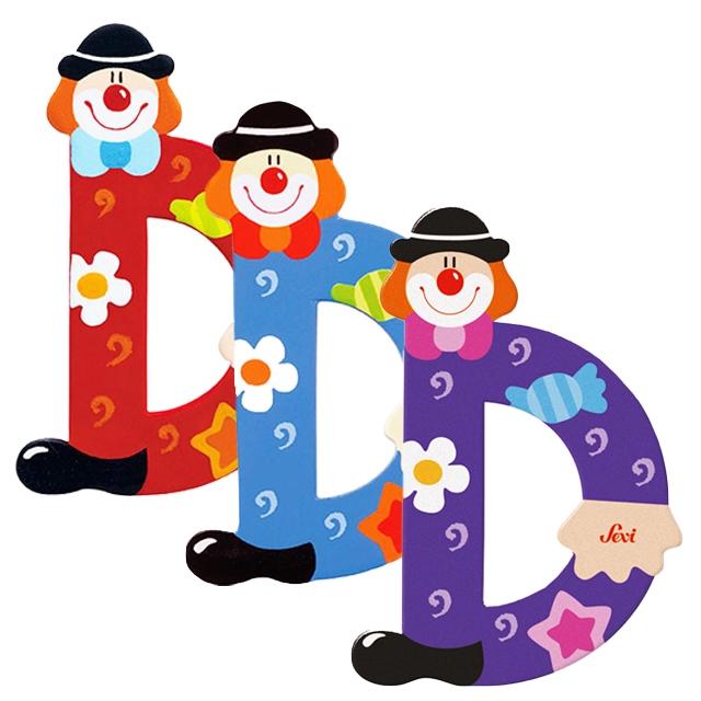 08c3ed3a1d SEVI Dekor Fa betű bohóc mintával (Több színben)- D - Babaszoba ...