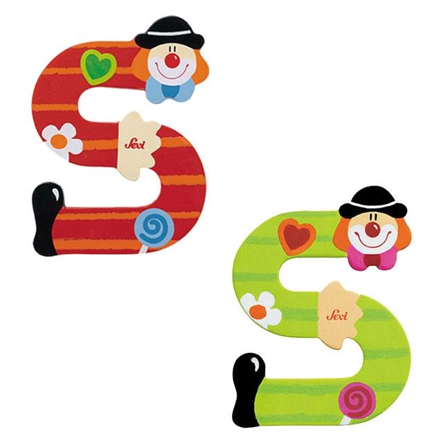 f1b4914048 SEVI Dekor Fa betű bohóc mintával (Több színben)-S - Babaszoba ...