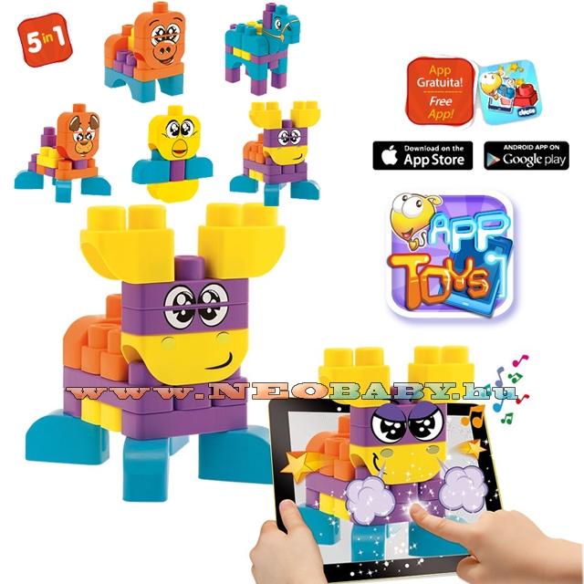 Image of App toys építõjáték (40 db-os) letölt. applikácóval ch060140000/Állatos