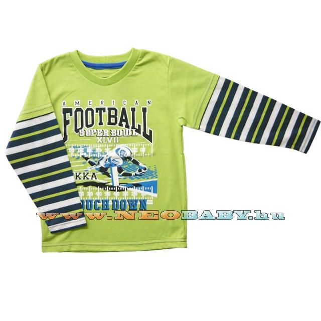 99ed5356c1 MIKKA hosszú ujjú póló fiú 110-116 Col.:amerikai focis - zöld ...