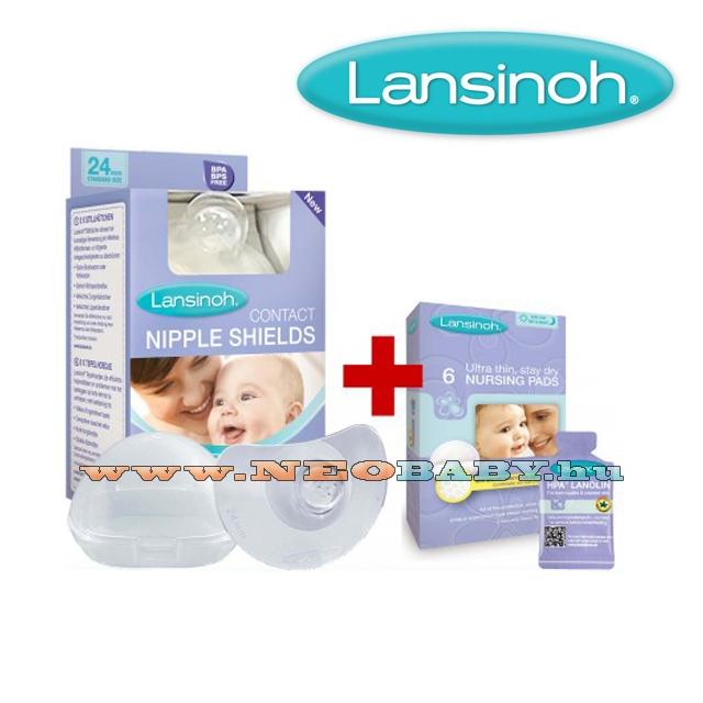 9a2929e80b LANSINOH bimbóvédő normál 2 db ajándék 6db-os melltartóbetét ...