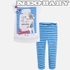 MAYORAL MODA Streifen- Set Leggings /Kobalt 6M - 5 év 3723 - 88
