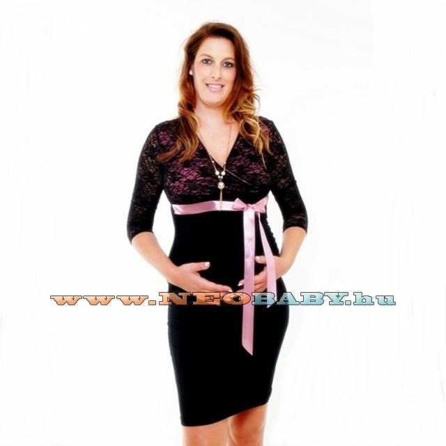 3dc4cc1a2c R&D Edit kismama ruha (XL) 01825/fekete-mályva - Kismama és ...