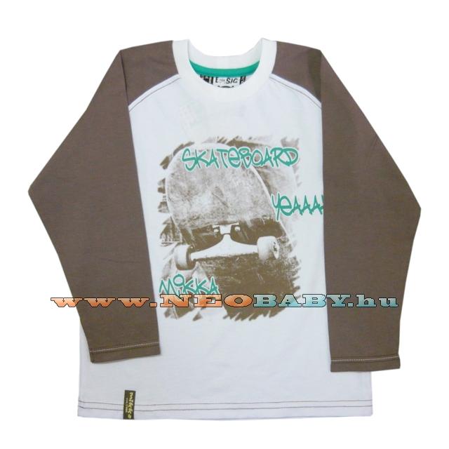 654215ed4d MIKKA hosszú ujjú póló 110-es Col.:deszkás fehér - Ruházat és cipő ...