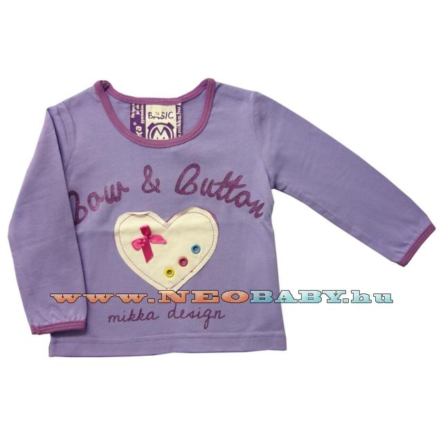 635ede7963 MIKKA hosszú ujjú póló lány 86-104 Col.:szíves - lila - Ruházat és ...