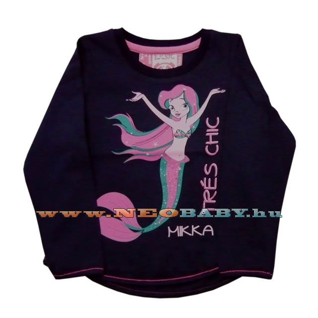 8058cd0614 MIKKA hosszú ujjú póló lány 92-98 Col.:sellő sötétkék - Ruházat és ...