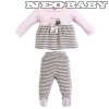 IDO DODIPETTO two pieces romper suit with feet - Baby szett plüss /1 hó 4.T460.00/5819