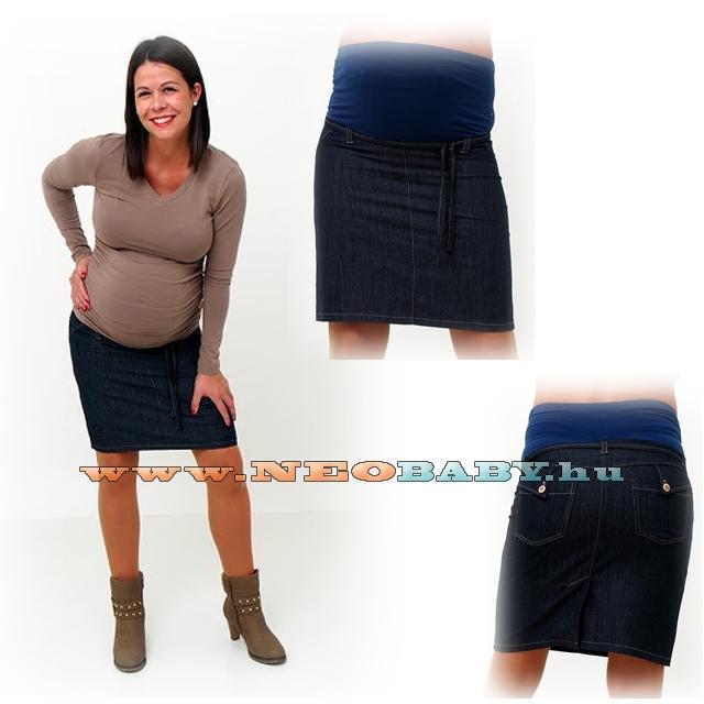 07b7727450 R&D kismama szoknya farmer (S) 00792/s.kék - Kismama és szoptatás ...