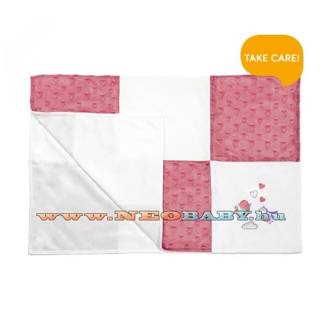 BABYONO minky patchwork- babatakaró puha 75x100cm 1411 01 pink ... 75e3646bea