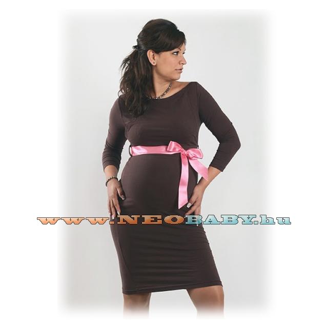 R D kismama ruha elegáns (S) 01309 sötétbarna - Kismama és szoptatás ... 00fbeb4639