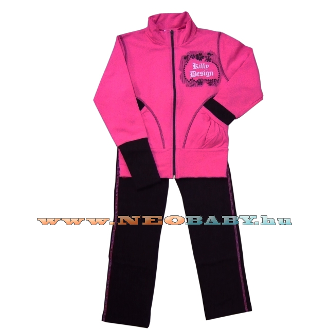 d99ea94dbf KILLY 2 részes pamut szabadidő ruházat 128-as Col.:pink/fekete ...