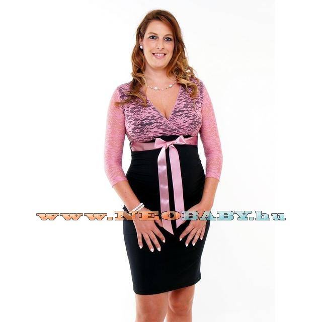 58984020c5 R&D Edit kismama ruha (M) 01770/fekete és mályva csipke - Kismama és ...