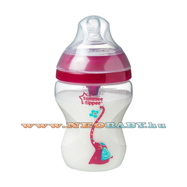 TOMMEE TIPPEE Advanced cumisüveg anti-colic 260ml 42257675/rózsaszín