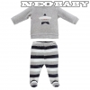IDO DODIPETTO two pieces rompers suit with feet - Baby szett /9 hó 4V231.00/8008