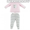 IDO DODIPETTO two pieces rompers suit with feet - Baby szett 6 hó 4V233.00/5819