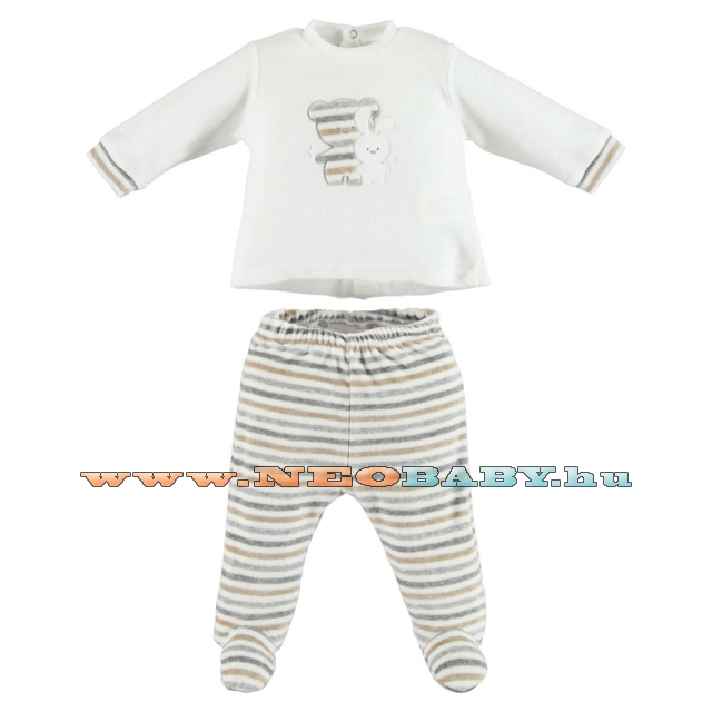 IDO DODIPETTO two pieces rompers suit with feet - Baby szett /9 hó 4V233.00/0112