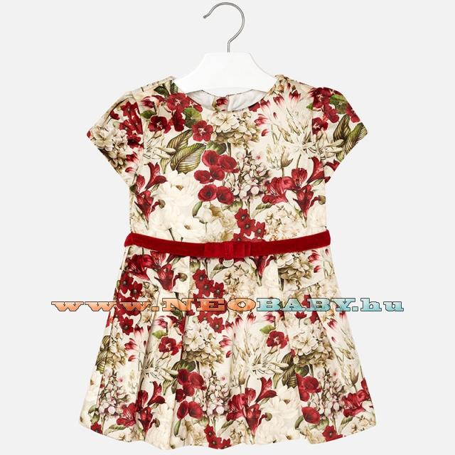ca0b54bd35 MAYORAL MODA Bársony ruha /virágok piros 6B - 4 év 4948 - 70 ...