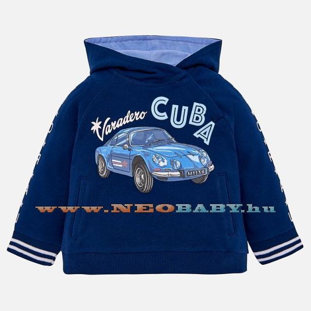 7796a06a2e MAYORAL MODA nyomott mintás pulóver kapucnis / Steel blue3H - 6 hó 1426 - 48