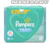 PAMPERS fresh clean törlőkendő 4*52db