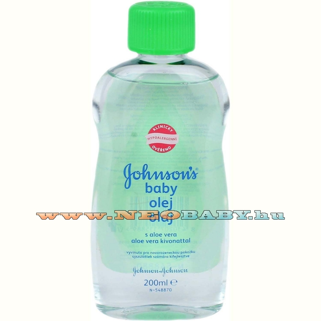 JOHNSONS   baba olaj 200ml aloe verával