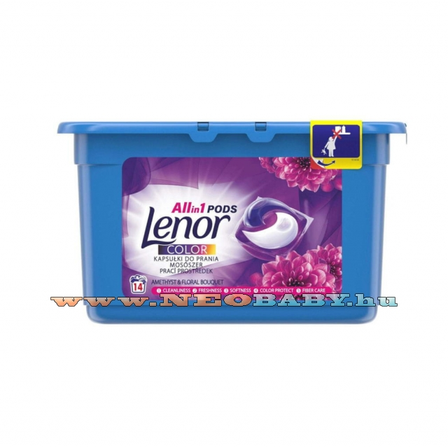 LENOR Color Flower mosókapszula 14db