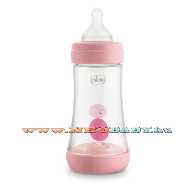 CHICCO Perfect5 cumisüveg 2m+ 240ml PINK CH02022310004